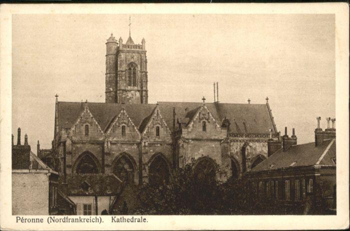 Peronne Somme Peronne Kathedrale  * / Peronne /Arrond. de Peronne