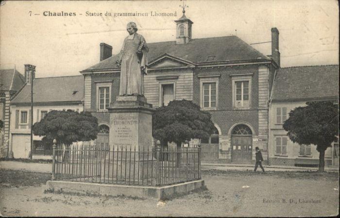 Chaulnes Statue Grammairien Lhomond x