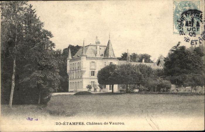 Ak tampes le ch teau de vauroux nr 6438734 oldthing for Chateau etampes