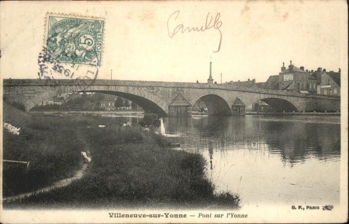 Villeneuve-sur-Yonne Pont Yonne x