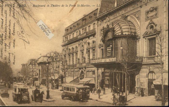 Paris Boulevard Theatre de la Porte St-Martin *