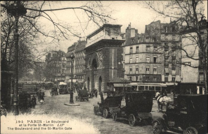 Paris le Boulevard la Porte St-Martin *