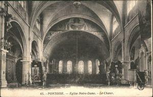 Pontoise  Val-d Oise Eglise Notre Dame Choeur x / Pontoise /Arrond. de Pontoise
