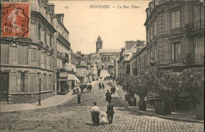Pontoise  Val-d Oise Rue Thiers x / Pontoise /Arrond. de Pontoise