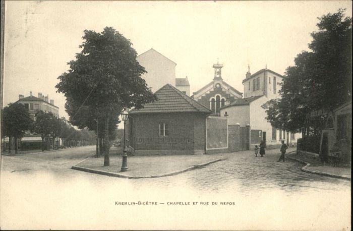 Villejuif [Handschriftlich] Kremlin Bicetre Chapelle Rue du Repos *