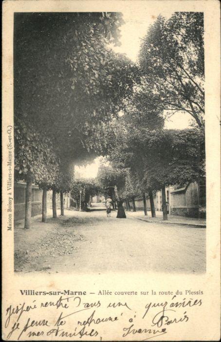 Villiers-sur-Marne Allee couverte sur la Route Plessis x