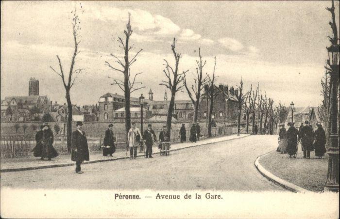 Peronne Somme Peronne Avenue de la Gare x / Peronne /Arrond. de Peronne