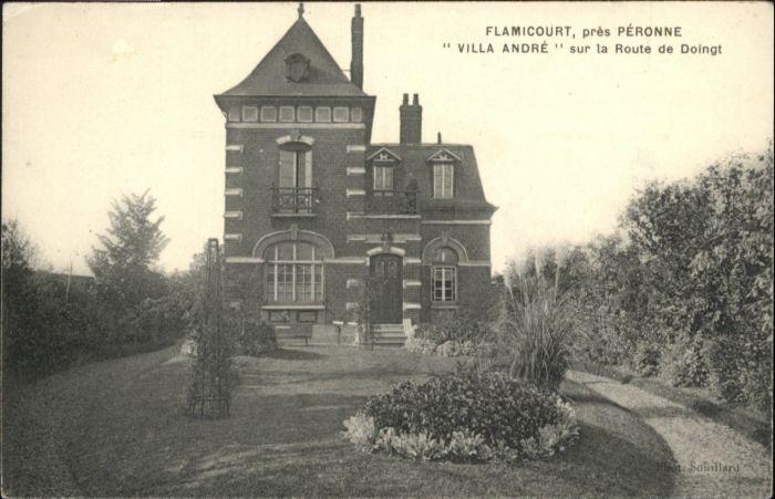 Peronne Somme Peronne flamicourt Villa Andre Route Doingt * / Peronne /Arrond. de Peronne