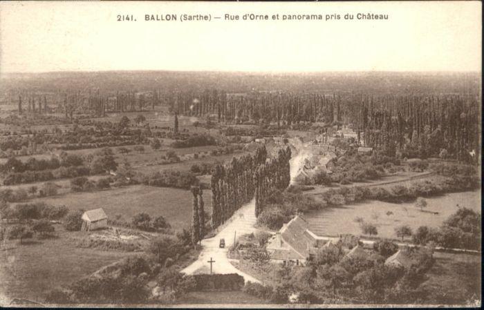 Ballon Sarthe Ballon Rue d Orne Cahteau x / Pays de la Loire /Arrond. du Mans