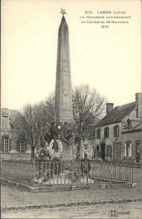 Ladon Loiret Monument Commemoratif Combat *