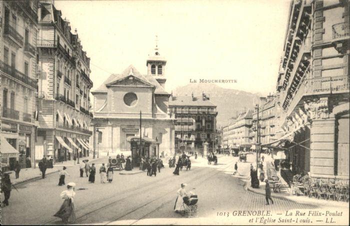 Grenoble Rue Felix-Poulat Eglise Saint-Louis *