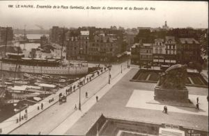 Le Havre Place Gambetta Bassin Commerce Bassin Roy Dampfer x