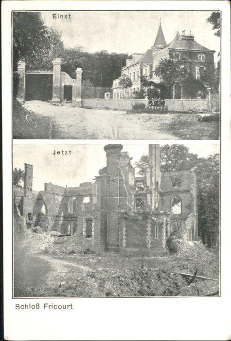 Fricourt Schloss Zerstoerung *