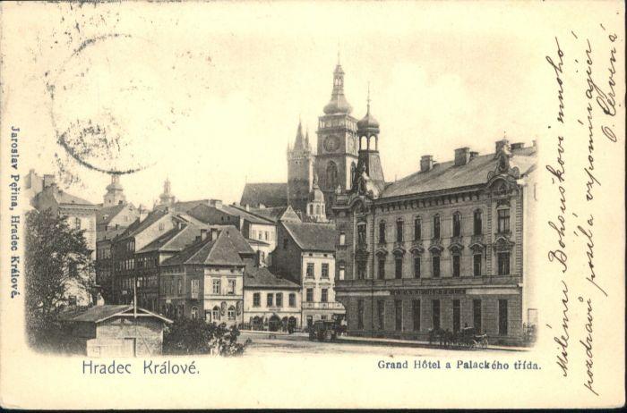 Hradec Kralove Hradec Kralove Grand Hotel Palackeho trida Kutsche x / Hradec Kralove Koeniggraetz /