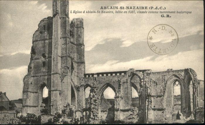 Saint-Nazaire Ablain Eglise Kirche *