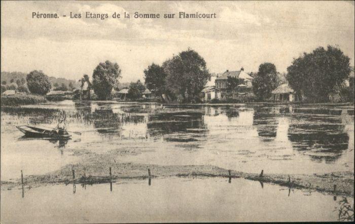 Peronne Somme Peronne Etang Somme Flamicourt * / Peronne /Arrond. de Peronne