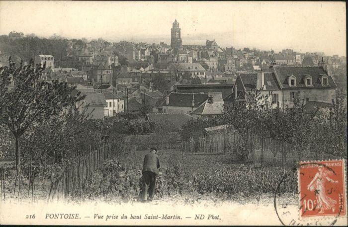 Pontoise  Val-d Oise Vue prise du baut Saint-Martin / Pontoise /Arrond. de Pontoise