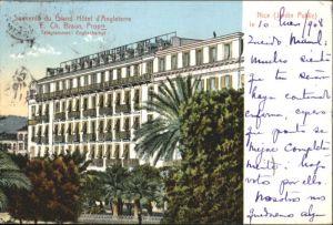 ww71427 Nice Alpes Maritimes Nice Jardin Public Grand Hotel Angleterre x Kategorie. Nice Alte Ansichtskarten