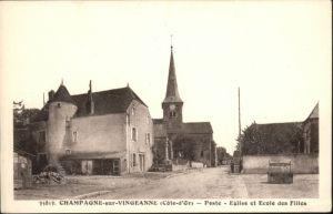 Champagne-sur-Vingeanne Poste Eglise Ecole Filles *