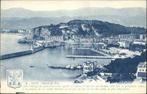 ww72033 Nice Alpes Maritimes Nice Port Wappen * Kategorie. Nice Alte Ansichtskarten