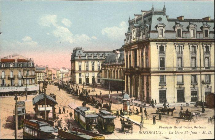 Bordeaux Gare St. Jean Bahnhof Strassenbahn  *