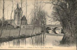 Nogent-le-Rotrou Huisne Pont Eglise Saint-Hilaire *