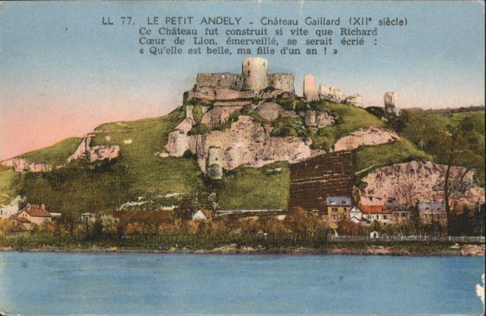 Les Andelys Petit Andely Chateau Gaillard x