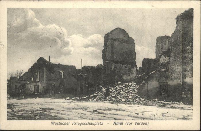 Amel-sur-l Etang Amel-sur-l'Etang Verdun Zerstoerung x