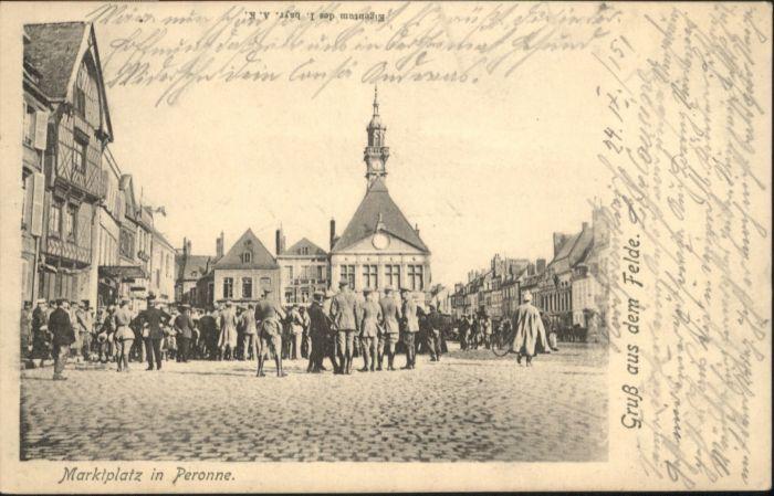 Peronne Somme Peronne Marktplatz * / Peronne /Arrond. de Peronne
