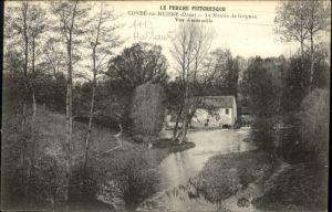 Conde-sur-Huisne Orne Moulin Grignan *