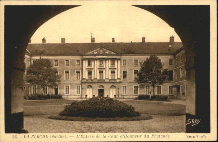 La Fleche Sarthe Cour Honneur Prytanee *