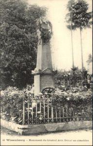 Wissembourg Monument du General Abel Douay au cimetiere *