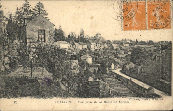 Avallon Route Lormes x