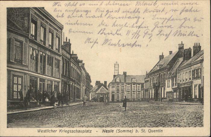 Nesle Somme Saint-Quentin x / Nesle /Arrond. de Peronne