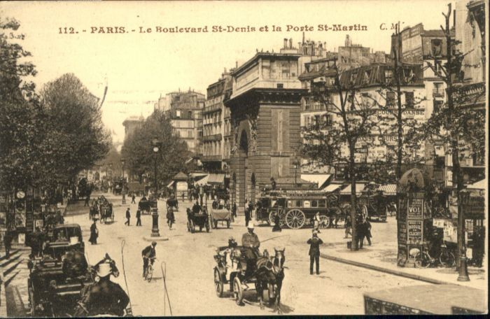 Paris Boulevard St Denis Porte St Martin x