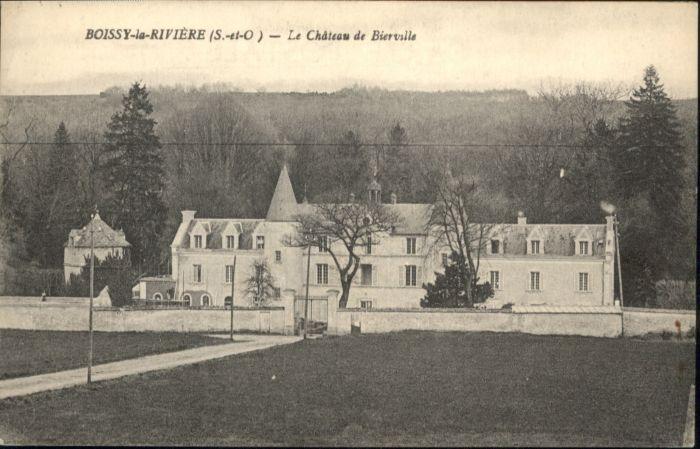 Boissy-la-Riviere Le Chateau de Bierville *