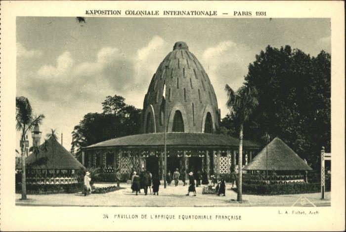 Paris Pavillon de l'Afrique equatoriale francaise *