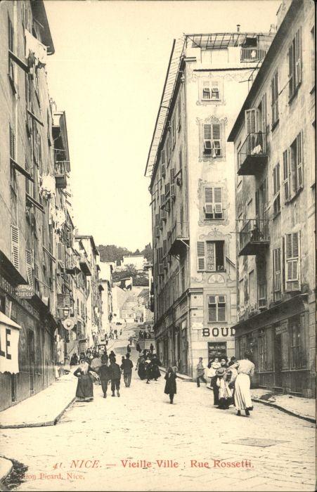 wx37436 Nice Alpes Maritimes Nice Vieille Ville Rue Rossetti * Kategorie. Nice Alte Ansichtskarten