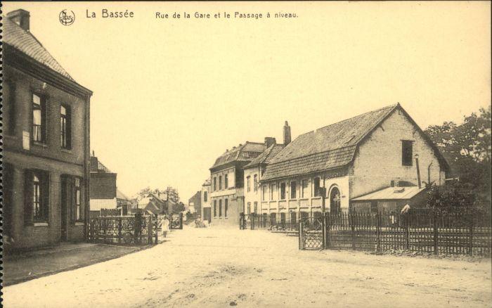 La Bassee Rue Gare Passage niveau *