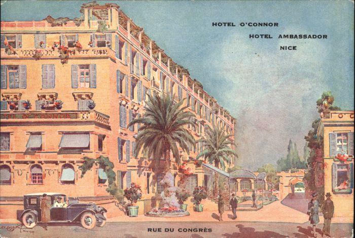 wx37783 Nice Alpes Maritimes Nice Hotel O Connor Hotel Ambrassador Rue Congres * Kategorie. Nice Alte Ansichtskarten
