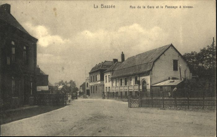 La Bassee Rue Gare Passage Niveau Bahnhof x