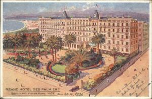 wx38591 Nice Alpes Maritimes Nice Grand Hotel Palmiers Boulevard Victor Hugo x Kategorie. Nice Alte Ansichtskarten
