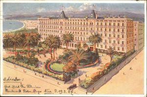 wx38592 Nice Alpes Maritimes Nice Grand Hotel Palmiers Boulevard Victor Hugo x Kategorie. Nice Alte Ansichtskarten