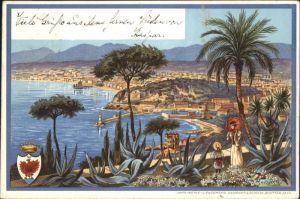 wx38854 Nice Alpes Maritimes Nice Wappen Kuenstler F. Perlberg x Kategorie. Nice Alte Ansichtskarten