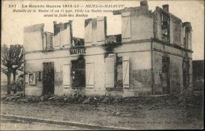 Heiltz-le-Maurupt Bataille Marne Mairie Zerstoerung *