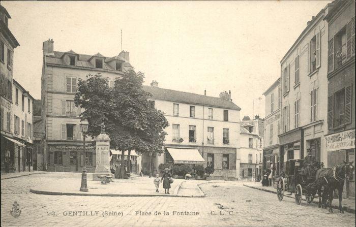 Gentilly Seine Place Fontaine *