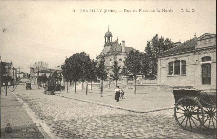 Gentilly Seine Rue Place Mairie *