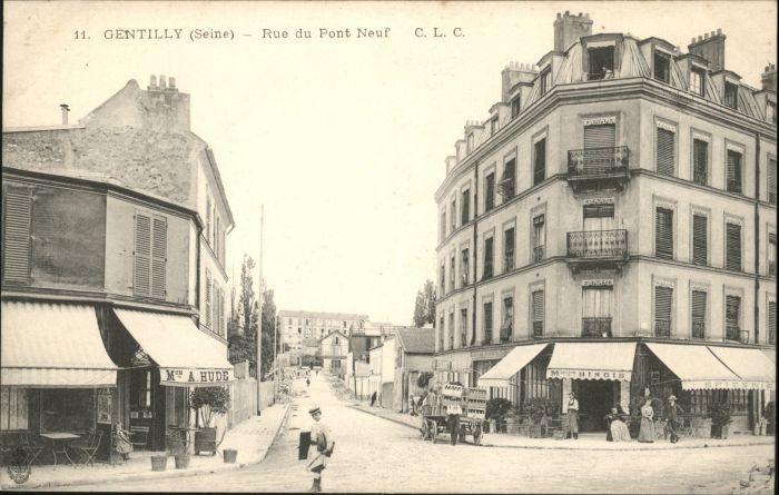 Gentilly Seine Rue Pont Neuf *