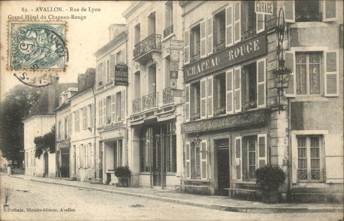 Avallon Rue Lyon Grand Hotel Chapeau-Rouge x