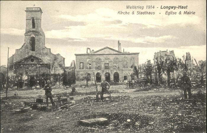 Longwy Lothringen Longwy-Haut Kirche Stadthaus Eglise Mairie * / Longwy /Arrond. de Briey